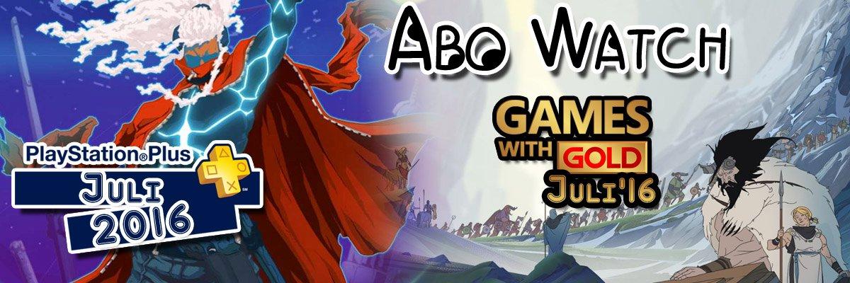 Abo Watch: Die Xbox Live Gold- und PlayStation Plus-Spiele im Juli 2016