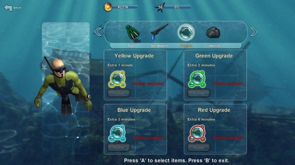 Rebreather Upgrades - One of the items you can improve
