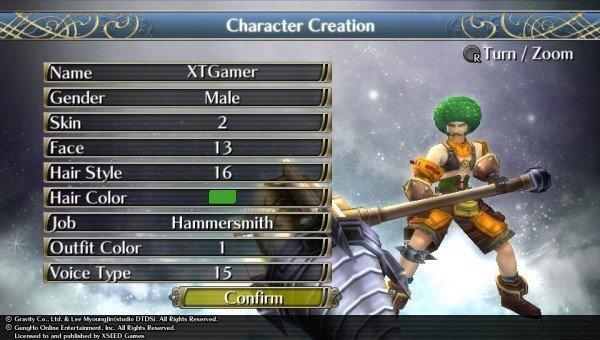 Ragnarok Odyssey Customisation